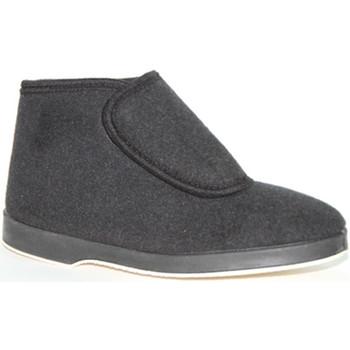 Schuhe Herren Boots Made In Spain 1940  Bota Tuch Klett Soca schwarz Schwarz
