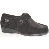 Schuhe Damen Slipper Doctor Cutillas  Schuhe mit Klettverschluss sehr empfin Schwarz