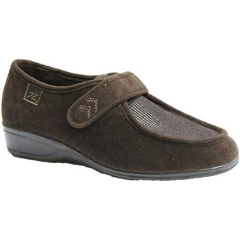 Schuhe Damen Slipper Doctor Cutillas  Schuhe mit Klettverschluss sehr empfin Braun