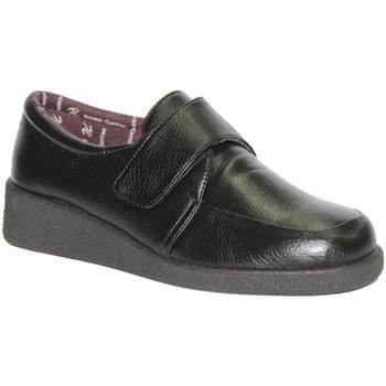 Schuhe Damen Slipper Doctor Cutillas  Klettschuh zarten Füße Schwarz