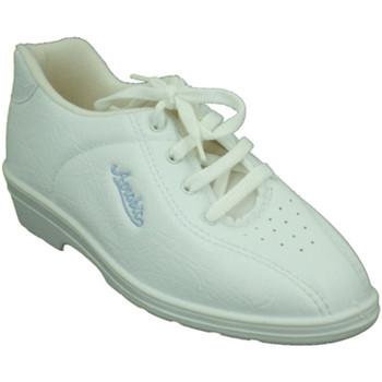 Schuhe Damen Indoorschuhe Alfonso  Sportschuhe sehr bequem Keil  w Weiss