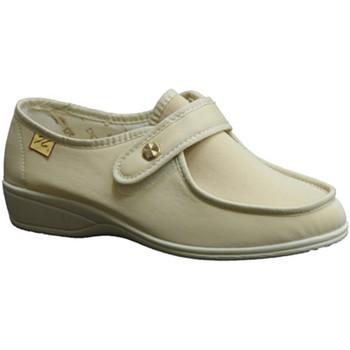 Schuhe Damen Slipper Doctor Cutillas  Schuhe mit Klettverschluss sehr empfin Beige