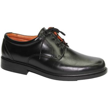 Schuhe Herren Derby-Schuhe Made In Spain 1940  Sehr bequemer Schuh glatte Klinge Clay Schwarz