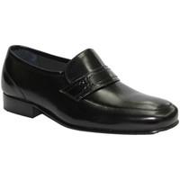 Schuhe Herren Slipper Made In Spain 1940  Sehr breite Schuh ohne Schnürsenkel Gr Schwarz