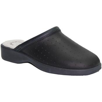 Schuhe Damen Pantoletten / Clogs Made In Spain 1940  Arbeits Clog Haut Cruan marineblau Blau