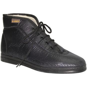 Schuhe Damen Sneaker High De Carmelo  Boot imitieren Stoffmaterialien De Car Schwarz