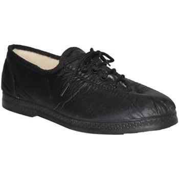 Schuhe Damen Richelieu De Carmelo  Leinwand-Schuh Nachahmung Materialien Schwarz