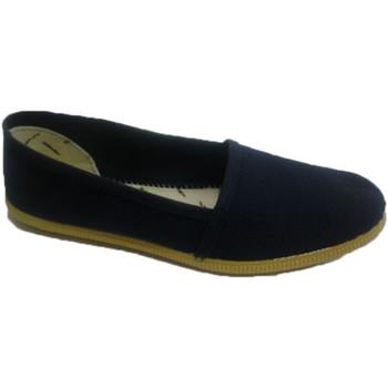 Schuhe Leinen-Pantoletten mit gefloch Muro  Camping Klassik Slipper  blau Blau