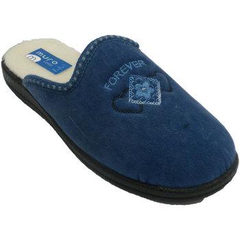 Schuhe Damen Hausschuhe Muro  Wand Tanga Pantoffel  blau Blau