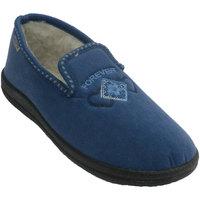 Schuhe Damen Hausschuhe Muro  geschlossen Slipper  blau Blau