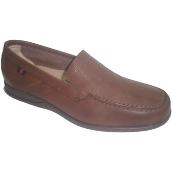 Schuhe Herren Slipper Made In Spain 1940  Gummi Schuhsohle Sommer Clayan Leder Braun