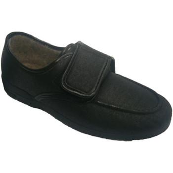 Schuhe Herren Slipper Calzacomodo  Kunstleder Schuh sehr komfortabel Soca Schwarz