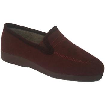Schuhe Damen Slipper Made In Spain 1940  Geschlossen Halbkeil Soca Granat Violett