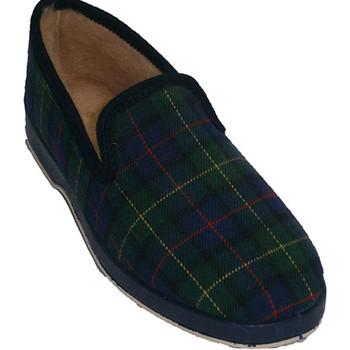 Schuhe Damen Hausschuhe Calzacomodo  Klassische Schuhkartons mit Haaren aus Blau