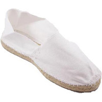 Schuhe Leinen-Pantoletten mit gefloch Made In Spain 1940 Alpargatas Flach esparto Made in Spain w Weiss