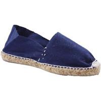 Schuhe Leinen-Pantoletten mit gefloch Made In Spain 1940 Alpargatas Flach esparto Made in Spain m Blau