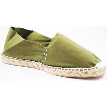 Schuhe Leinen-Pantoletten mit gefloch Made In Spain 1940 Alpargatas Flach esparto Made in Spain k Weiss
