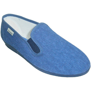 Schuhe Damen Hausschuhe Muro Klassische niedrige Keilschuh  Jeans Blau