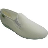 Schuhe Damen Hausschuhe Muro Klassische niedrige Keilschuh  weiß Weiss