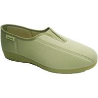 Schuhe Damen Slip on Muro Lycra Schuh mit Gummi vamp  beig Beige