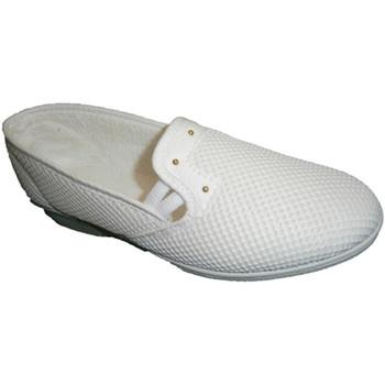 Schuhe Damen Slip on Made In Spain 1940 Stoff Schuhregal mit halber Passfeder So Weiss
