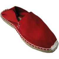 Schuhe Leinen-Pantoletten mit gefloch Made In Spain 1940 Alpargatas Flach esparto Made in Spain r Rot