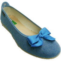 Schuhe Damen Ballerinas Made In Spain 1940 Manoletina Bow Alberola Jeans Blau