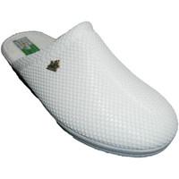 Schuhe Damen Hausschuhe Made In Spain 1940 Clogs Gitter Futter Baumwolltuch Alberol Weiss