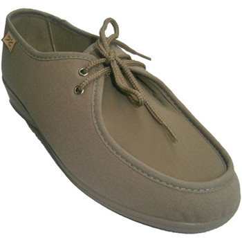 Schuhe Damen Slipper Doctor Cutillas Besonderes Extra breite Schuhe Schnürsen Beige