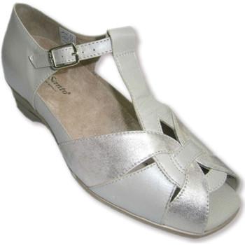 Schuhe Damen Sandalen / Sandaletten Piesanto Sandalen hinter und offene kombinierte b Beige