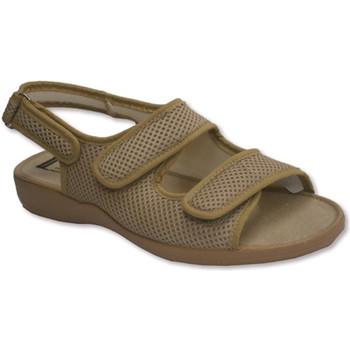 Schuhe Damen Sandalen / Sandaletten Calzamur Offene Spitze und Ferse Schuhe Brosche z Beige