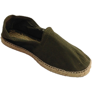 Schuhe Herren Leinen-Pantoletten mit gefloch Made In Spain 1940 Hanf Sandalen Fischgrätenstoff und Gummi Weiss