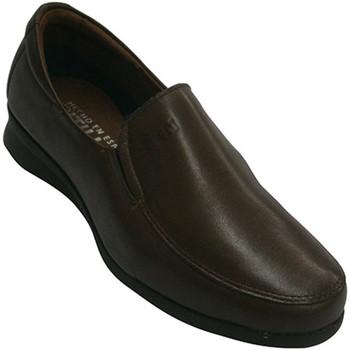Schuhe Damen Slipper Pitillos Leder-Schuhe mit Gummi an den Seiten seh Braun