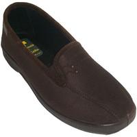 Schuhe Damen Hausschuhe Doctor Cutillas Lycra geschlossene Schuhe mit elastische Braun