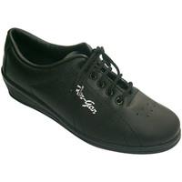 Schuhe Damen Indoorschuhe Made In Spain 1940 Sports Frau mit Keil Fergar schwarz Schwarz