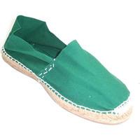Schuhe Leinen-Pantoletten mit gefloch Made In Spain 1940 Flache Sandalen esparto Made in Spain gr Beige