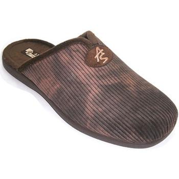 Schuhe Herren Hausschuhe Andinas Thongs Mann Cord mit Schaufel Öffnung An Braun
