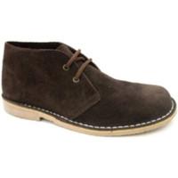 Schuhe Herren Boots Danka Breite Zehenbootsafari  braun Braun