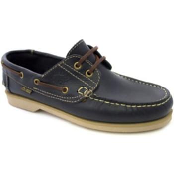 Schuhe Herren Bootsschuhe Danka Nautical dünnen Sohlen  marineblau Blau