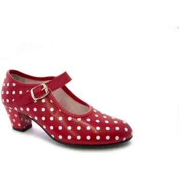 Schuhe Damen Pumps Danka Sevilla Flamenco Tanzschuh weißen Tupfen Rot