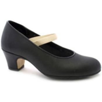 Schuhe Damen Pumps Danka Flamenco-Tanz Schuh Ferse und Spitze mit Schwarz