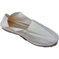 Schuhe Leinen-Pantoletten mit gefloch Made In Spain 1940 Alpargatas flach Esparto Made in Spain b Beige