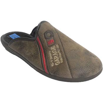 Schuhe Herren Hausschuhe Made In Spain 1940 Chancla Mann mit geflochtenem Leder trim Beige