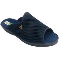 Schuhe Damen Hausschuhe Made In Spain 1940 Chancla Gitter rund um das Haus offen Ze Blau