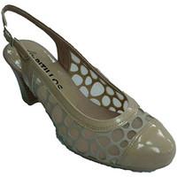Schuhe Damen Pumps Pitillos Frauenschuh mit offenem Rücken Gitter Mo Beige