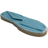 Schuhe Leinen-Pantoletten mit gefloch Made In Spain 1940 Alpargatas flach Esparto Made in Spain h Blau