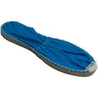Schuhe Leinen-Pantoletten mit gefloch Made In Spain 1940 Esparto flach espadrille Made in Spain b Blau