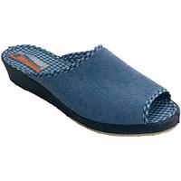 Schuhe Damen Sandalen / Sandaletten Calzacomodo Thongs Handtuch Frau offene Spitze Soca Blau