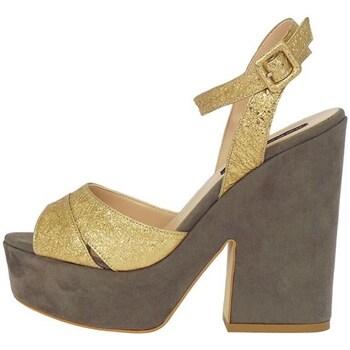 Schuhe Damen Sandalen / Sandaletten Silvana 730/t90 Sandelholz Frau Gold Gold