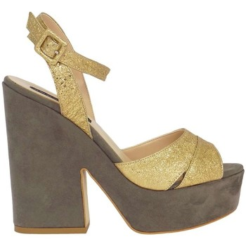 Schuhe Damen Sandalen / Sandaletten Silvana 730/t90 Sandalen Frau Gold Gold